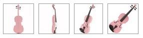 4/4 Viool Student   ROZE.  Handgemaakt  Viool-set met Jujube / Ebben onderdelen.  Viool is door de hoge stemvastheid geschikt voor lesdoeleinden. Gaat u naar les?  Adviseren we je Super Speelklaar